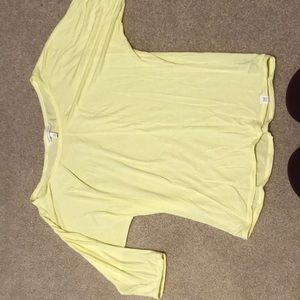 Victoria Secret soft thin yellow ¾ length t-shirt